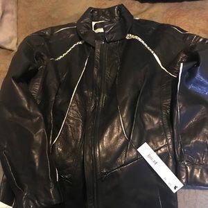 Beautiful Donna Karan collection leather jacket
